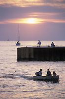 Evening Boating near Pier Bayfield Ontario Canada