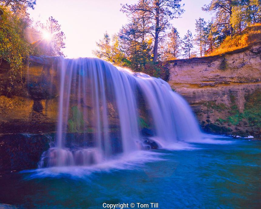 Snake Falls on the Snake River in Autumn, Sand Hills Area near Valentine, Nebraska