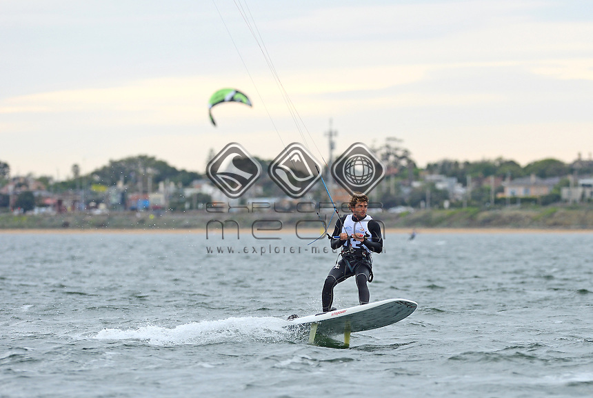 Kiteboard - M / Jordan Girdis (AUS)<br /> 2013 ISAF Sailing World Cup - Melbourne<br /> Sail Melbourne - The Asia Pacific Regatta<br /> Sandringham Yacht Club, Victoria<br /> December 1st - 8th 2013<br /> &copy; Sport the library / Jeff Crow