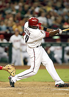 Justin Upton / Arizona Diamondbacks playing against the Cincinnati Reds at Chase Field, Phoenix, AZ - 09/12/2008..Photo by:  Bill Mitchell/Four Seam Images
