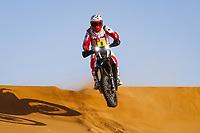 12th January 2020, Riyadh, Saudi Arabia;  08 Goncalvez Paulo (prt), Hero, Hero Motosports Team Rally, Moto, Bike, Motul, action during Stage 7 of the Dakar 2020 between Riyadh and Wadi Al-Dawasir, 741 km - SS 546 km, in Saudi Arabia - Editorial Use