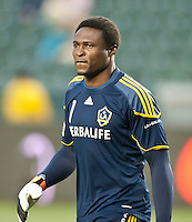 CARSON, CA – May 7, 2011: LA Galaxy goalie Donovan Ricketts (1) before the match between LA Galaxy and New York Red Bull at the Home Depot Center, May 7, 2011 in Carson, California. Final score LA Galaxy 1, New York Red Bull 1.