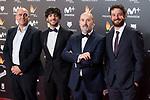 Diego San Jose, Javier Camara and Gorka Otxoa attends red carpet of Feroz Awards 2018 at Magarinos Complex in Madrid, Spain. January 22, 2018. (ALTERPHOTOS/Borja B.Hojas)