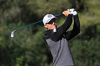Calum Hill (SCO) on the 5th tee during Round 3 of the Challenge Tour Grand Final 2019 at Club de Golf Alcanada, Port d'Alcúdia, Mallorca, Spain on Saturday 9th November 2019.<br /> Picture:  Thos Caffrey / Golffile<br /> <br /> All photo usage must carry mandatory copyright credit (© Golffile | Thos Caffrey)