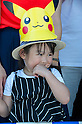 A young girl enjoys the Pikachu Parade on August 7, 2016. It was held during the weeklong Pikachu Breakout event in the Japanese port town of Yokohama, nearby Tokyo.<br /> <br /> Photo by DUITS/AFLO