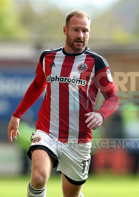 Matt Done of Sheffield Utd during the English Football League One match at the the Valley Parade Stadium, Bradford. Picture date: October 22nd, 2016. Pic Simon Bellis/Sportimage