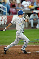 Tim Wheeler of the Tri-City Dust Devils in the Northwest League championship game against the Salem-Keizer Volcanoes at Volcanoes Stadium - 9/10/2009..Photo by:  Bill Mitchell/Four Seam Images..