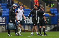 Bolton Wanderers' Callum King-Harmes walks off injured<br /> <br /> Photographer Andrew Kearns/CameraSport<br /> <br /> The EFL Sky Bet Championship - Bolton Wanderers v Coventry City - Saturday 10th August 2019 - University of Bolton Stadium - Bolton<br /> <br /> World Copyright © 2019 CameraSport. All rights reserved. 43 Linden Ave. Countesthorpe. Leicester. England. LE8 5PG - Tel: +44 (0) 116 277 4147 - admin@camerasport.com - www.camerasport.com