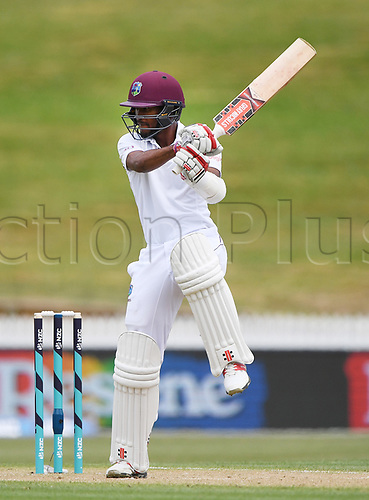 10th December 2017, Seddon Park, Hamilton, New Zealand; International Test Cricket, 2nd Test, Day 2, New Zealand versus West Indies;  Kraigg Brathwaite