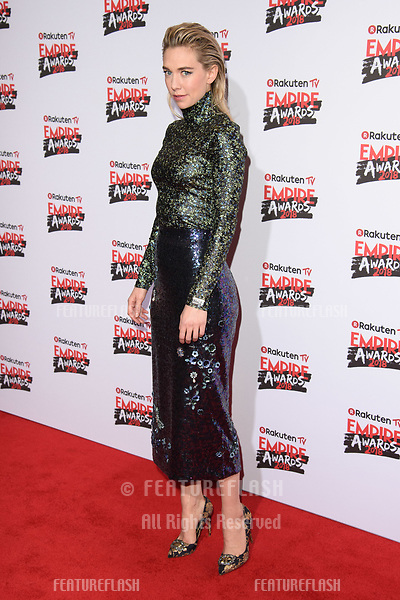 Vannessa Kirby arriving for the Empire Awards 2018 at the Roundhouse, Camden, London, UK. <br /> 18 March  2018<br /> Picture: Steve Vas/Featureflash/SilverHub 0208 004 5359 sales@silverhubmedia.com