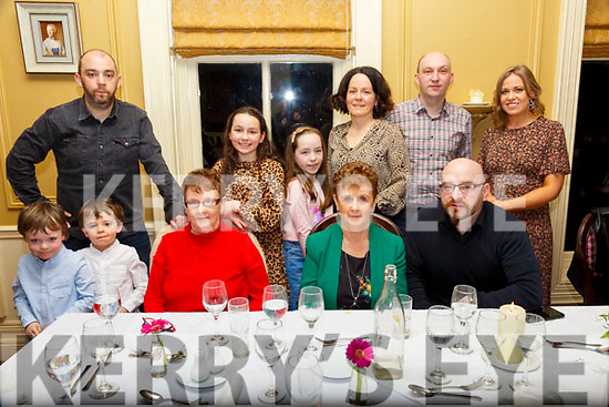 70th Birthday: Minnie Horgan, Brosna, seted left front celebrating her 70th birthday with family at the Listowel Arms Hotel on Saturday night last.