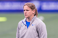 Allston, MA - Saturday, May 07, 2016:  Boston Breakers assistant coach Cat Whitehill before a regular season National Women's Soccer League (NWSL) match at Jordan Field.