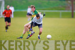 IT Tralee's Denis McElligott and Kerry's captain Donnchadh Walsh in the McGrath cup at John Mitchels on Sunday.