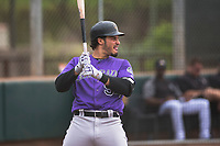 Colorado Rockies third baseman Nolan Arenado (94) at bat during an Extended Spring Training game against the Arizona Diamondbacks at Salt River Fields at Talking Stick on April 16, 2018 in Scottsdale, Arizona. (Zachary Lucy/Four Seam Images)