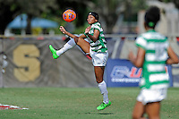 8 November 2015:  North Texas Forward Marchelle Davis (11) attempts to control the ball in the second half as the University of North Texas Mean Green defeated the Marshall University Thundering Herd, 1-0, in the Conference USA championship game at University Park Stadium in Miami, Florida.