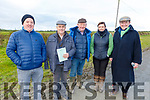 Raymond Allen, Martin Gavvin, Dan and Deirdre Lynch and Basil Houlihan attending the Ballyduff coursing on Sunday