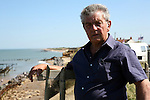 Malcolm Kerby, coordinator of the Coastal Concern Action Group campaign. The campaign aims to emcourage the government to design a clear strategy to manage the defence of Happisburgh and compensate their inhabitants for property lost to the sea.