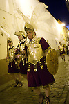 Roman soldiers, called Armaos, of La Macarena brotherhood, Good Friday dawn, Seville, Spain