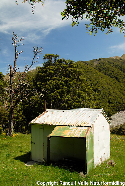Rokeby Hut, St. James Walkway, New Zealand.