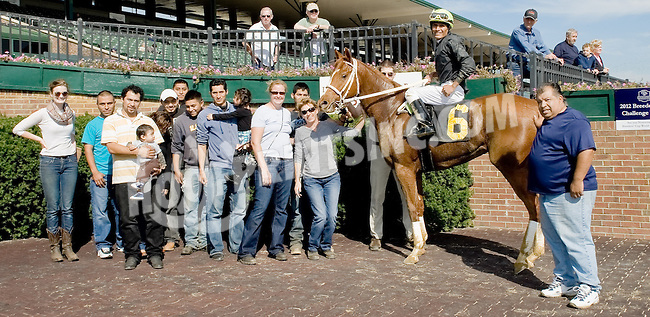 Borderland winning at Delaware Park on 10/18/12