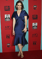 HOLLYWOOD, LOS ANGELES, CA, USA - OCTOBER 05: Sarah Paulson arrives at the Los Angeles Premiere Screening Of FX's 'American Horror Story: Freak Show' held at the TCL Chinese Theatre on October 5, 2014 in Hollywood, Los Angeles, California, United States. (Photo by Celebrity Monitor)