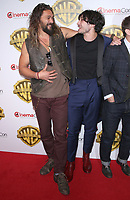 29 March 2017 - Las Vegas, NV - Ezra Miller, Jason Mamoa. 2017 Warner Brothers The Big Picture Presentation at CinemaCon at Caesar's Palace.  Photo Credit: MJT/AdMedia