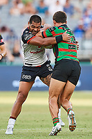 Adam Blair of the NZ Warriors, Rabbitohs v Vodafone Warriors, NRL rugby league premiership. Optus Stadium, Perth, Western Australia. 10 March 2018. Copyright Image: Daniel Carson / www.photosport.nz