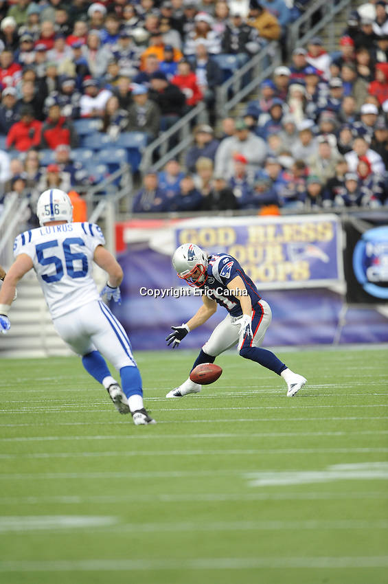 New England Patriots vs Indianapolis Colts at Gillette Stadium December 4, 2012