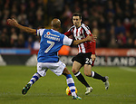 Danny Lafferty of Sheffield Utd faces Adam Chambers of Walsall during the English League One match at Bramall Lane Stadium, Sheffield. Picture date: November 29th, 2016. Pic Simon Bellis/Sportimage