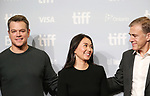 Matt Damon, Hong Chau and Christoph Waltz attend the 'Downsizing' photo call during the 2017 Toronto International Film Festival at Tiff Lightbox on September 10, 2017 in Toronto, Canada.