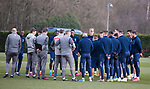 06.03.2020: Rangers training: Steven Gerrard with his players