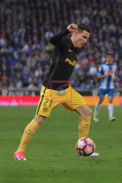 League Santander 2016/2017. Game: 33.<br /> RCD Espanyol vs Atletico de Madrid: 0-1.<br /> Gameiro.