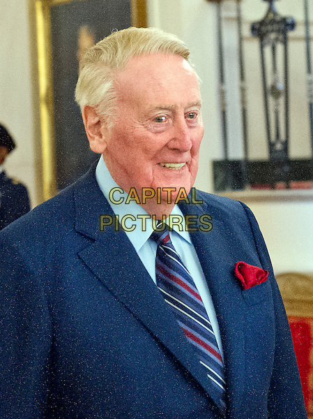 Broadcaster Vin Scully arrives to accept Presidential Medal of Freedom, the Nation&iacute;s highest civilian honor, from United States President Barack Obama in the East Room of the White House in Washington, DC on November 22, 2016.<br /> CAP/MPI/RS<br /> &copy;RS/MPI/Capital Pictures