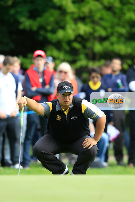 Kiradech APHIBARNRAT (THA) during round 2 of the 2015 BMW PGA Championship over the West Course at Wentworth, Virgina Water, London. 22/05/2015<br /> Picture Fran Caffrey, www.golffile.ie: