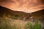 Shaun Jericevich and Michelle Harris during stage six of the 2010 Absa Cape Epic Mountain Bike stage race between Worcester and Oak Valley in the Western Cape, South Africa on the 26 March 2010.Photo by Karin Schermbrucker/SPORTZPICS