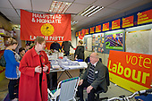 Labour MP Glenda Jackson talks with constituents and party supporters in her local campaign office during the 2010 General Election campaign in the newly created marginal constituency of Hampstead and Kilburn.