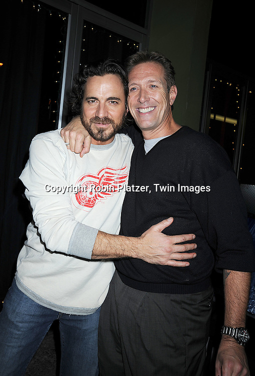 Thorsten Kaye and Walt Willey..at The All My Children Christmas Party on December 15, 2008 at Prohibition Restauant in New York City. ....Robin Platzer, Twin Images