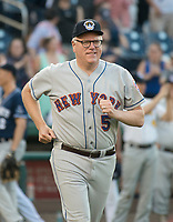 United States Representative Joseph Crowley (Democrat of New York) is introduced prior to the 56th Annual Congressional Baseball Game for Charity where the Democrats play the Republicans in a friendly game of baseball at Nationals Park in Washington, DC on Thursday, June 15, 2017. Rep. Crowley will play in the infield. Photo Credit: Ron Sachs/CNP/AdMedia