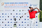 Viraj Madappa of India tees off at tee one during the 9th Faldo Series Asia Grand Final 2014 golf tournament on March 18, 2015 at Faldo course in Mid Valley clubhouse in Shenzhen, China. Photo by Xaume Olleros / Power Sport Images