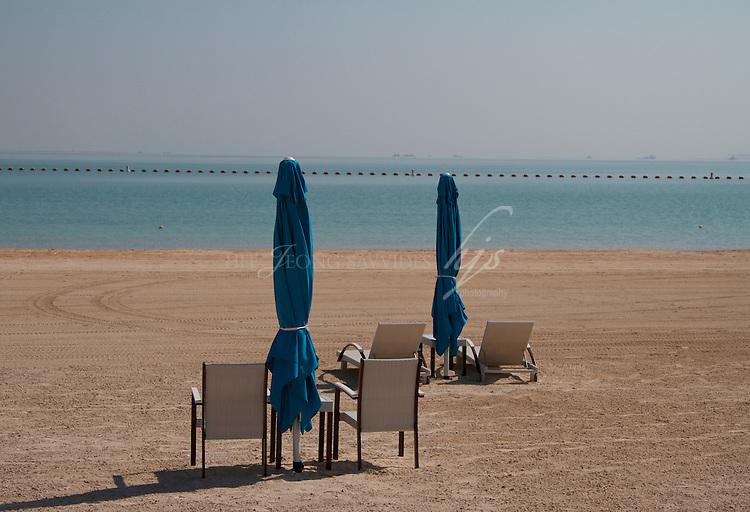 Arabian Gulf, Beach in Katara, the Cultural Village, West Bay, Doha, Qatar | Nov 10