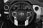 Car pictures of steering wheel view of a 2019 Toyota Tundra SR5 5.7L Crew Max 4WD Short Bed 4 Door Pick Up