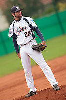 17 October 2010: Pierrick Lemestre of Savigny pitches against Rouen during Rouen 10-5 win over Savigny, during game 2 of the French championship finals, in Savigny sur Orge, France.