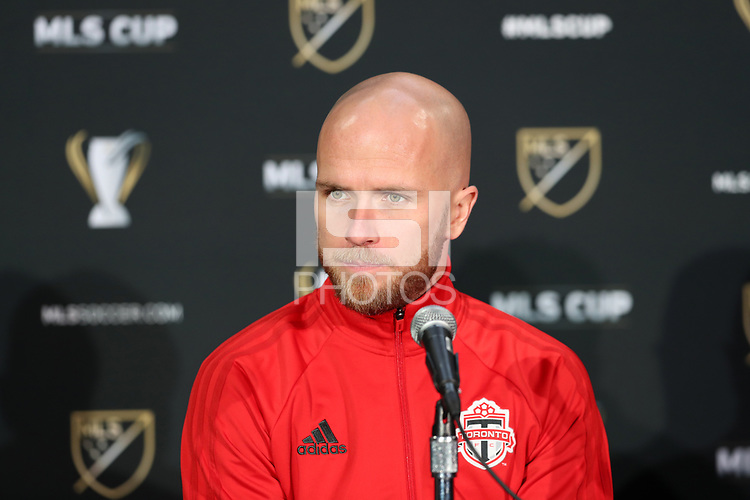 Toronto, Ontario - Thursday December 07, 2017: The MLS Cup Team Press Conference was held at The Hangar two days before MLS Cup 2017.