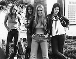 The Runaways 1978 Sandy West, Vicky Blue, Lita Ford and Joan Jett
