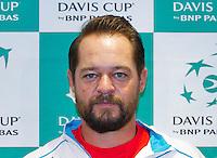 September 10, 2014,Netherlands, Amsterdam, Ziggo Dome, Davis Cup Netherlands-Croatia, Press conference, <br /> Photo: Tennisimages/Henk Koster