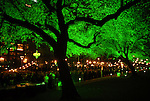 The park was lit up green at the Discovery Green Gala at Discovery Green Park downtown Saturday Feb. 23,2008.(Dave Rossman/For the Chronicle)
