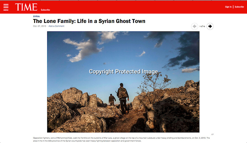 http://world.time.com/2013/10/07/the-lone-family-life-in-a-syrian-ghost-town/