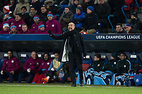 Manchester City manager Josep Guardiola reacts <br /> <br /> Photographer Craig Mercer/CameraSport<br /> <br /> UEFA Champions League Round of 16 First Leg - Basel v Manchester City - Tuesday 13th February 2018 - St Jakob-Park - Basel<br />  <br /> World Copyright &copy; 2018 CameraSport. All rights reserved. 43 Linden Ave. Countesthorpe. Leicester. England. LE8 5PG - Tel: +44 (0) 116 277 4147 - admin@camerasport.com - www.camerasport.com