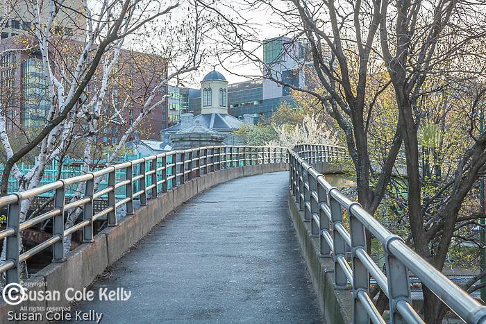 Footbridge to the Esplanade, Boston, Massachusetts, USA