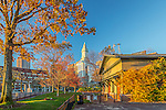 Autumn in Waterfront Park, Boston, Massachusetts, USA